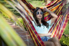 Our lovely Hammockchair Madras Amarilla Roja #hammockchair #hangingchair #outdoor