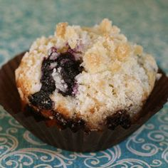 """I have no other blueberry muffin recipe. This is it, folks. My dear Grandma Renelt's Blueberry Muffins with Crumble Topping. These muffins are tender, moist, and flavorful. And the crunchy, buttery, sugary topping elevates these from """"really good"""" to """"super fantastic"""". The crumble is like the flouncy curling ribbon adorning an already beautifully wrapped gift. …"""