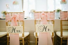 Mr and Mrs Chair Signs Custom Bride and Groom Photo props via Etsy