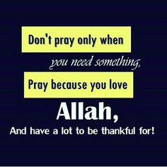 Don't pray...