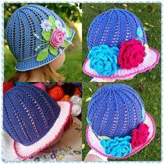 fabartdiy crochet girls panama sun hat free pattern