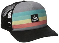 b5c57f35f9e Reef Men s Trucker Hat Reef surf classic trucker hat collection Comes in  variety of fun prints and colors Adjustable snapback enclosure Mesh side  panels for ...