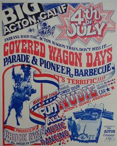 1970s 4.th of July Cowboy Show  Original by OutofCopenhagen