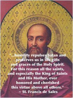 Humility... St. Francis de Sales