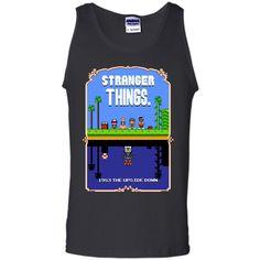 Stranger Things Mario Bros 2 Pixel Art Mashup T-Shirt