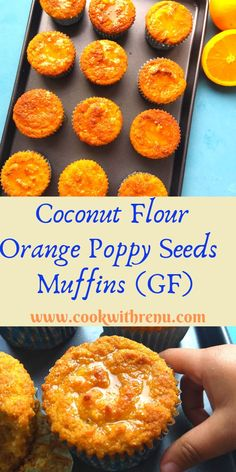 Recipes Breakfast Gluten Free This Coconut Flour Orange Poppy Seeds muffins are gluten free, grain free, nut free & dairy free and are deliciously moist and light with Orange flavour. They are low carb and perfect for breakfast or snack. Gluten Free Gifts, Healthy Gluten Free Recipes, Gluten Free Breakfasts, Gluten Free Baking, Gluten Free Desserts, Hot Desserts, Meringue Desserts, Healthy Desserts, Muffins Sans Gluten
