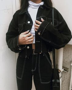 Grunge Outfits, Teen Fashion Outfits, Korean Outfits, Cute Casual Outfits, Stylish Outfits, Girl Outfits, Korean Girl Fashion, Look Fashion, Fashion Tips