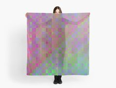 This wild rainbow of squares in natural colors makes a wonderful surface pattern for clothing and more. • Also buy this artwork on apparel, phone cases, home decor, and more.