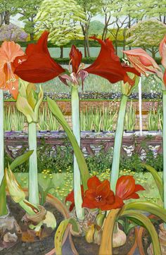 Houseplants That Filter the Air We Breathe Christiane Kubrick - Amaryllis Illustration Botanique, Illustration Art, Vintage Illustrations, Garden Painting, Garden Art, Fabric Painting, Painting Frames, Fields In Arts, Selling Paintings