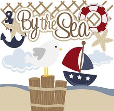 By The Sea SVG files for scrapbooking paper crafting free svgs seagull svg file beach svgs