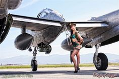WINGS, GARTERS 'N' HEELS....TALA MARIE  © Photo by Michael Malak | M A L A K Photography on Facebook  Aircraft: Yanks Air Museum | Wardrobe: Secrets in Lace | Ellie Shoes