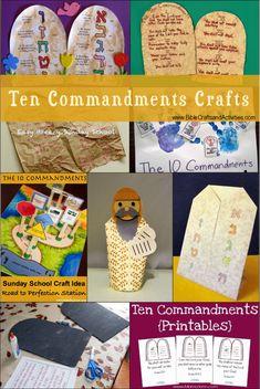 Ten Commandments Crafts