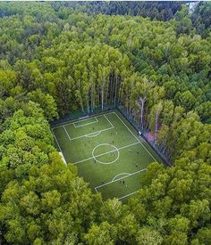 #drone #photography of a soccer field in the woods near moscow  #landscape #art on #designboom