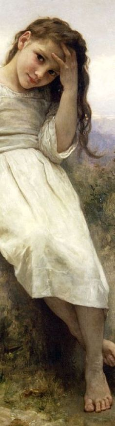 Little Thief, 1900 // by William-Adolphe Bouguereau (detail)