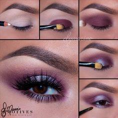 Shimmery Purple tutorial Shimmery Purple tutorial – Das schönste Make-up Makeup Eye Looks, Full Face Makeup, Eye Makeup Tips, Makeup Tools, Eyeshadow Makeup, Hair Makeup, Makeup Ideas, Makeup Artists, Make Up Designs