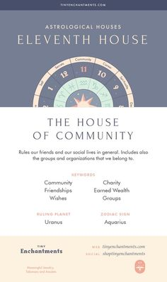 The Eleventh House - The House of Community - House in Astrology, Meaning, Ruling Planets, Ruling Zodiac Signs Learn Astrology, Tarot Astrology, Astrology And Horoscopes, Astrology Numerology, Astrology Zodiac, Astrology Signs, Capricorn Aquarius Cusp, Zodiac Signs Aquarius, Constellations