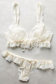 Eberjey Ruffled Thong - anthropologie.com