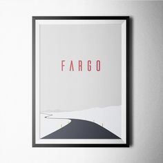 Fargo #poster #print #minimal #blackandwhite #scandinavian #nursery #minimalist…