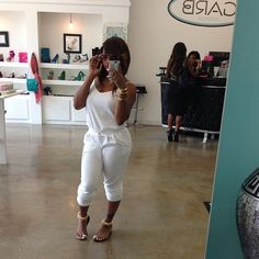 Toya Wright's Instagram Juicy Couture White Velour Jumpsuit!