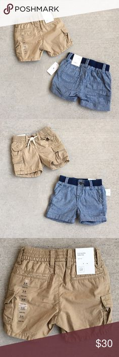 (NEW) Baby Gap BUNDLE (3) Infant Boy Shorts Brand new. Tags attached. Bundle deal. Pull on shorts. Last (2) pics taken of reverse side of plaid shorts. Size: 3-6mo all (3) shorts  Color: Kahaki & Blue/White & Plaid Material: 100% cotton for all ☑️ Smoke/pet free ☑️ They retail for $24.95 EACH. Price is firm. No offers.  ☑️ No trades - don't ask.  ☑️ Item is available for purchase - no need to ask ☑️ Ships out same day from Southern CA.   THANKS FOR LOOKING!! PLEASE BE SURE TO CHECK OUT MY…