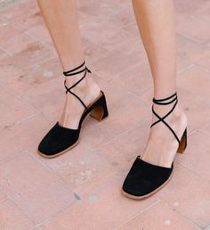 90's Velvet shoes on low block hell