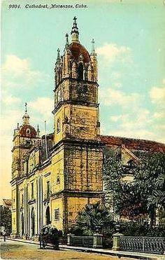 Matanzas Cuba 1909 Matanzas Cathedral Collectible Antique Vintage Postcard