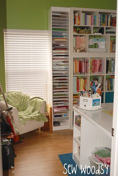 You have no idea how much I wish that this neat, organized room was at my house! I love that you can find everything and it all looks so good!