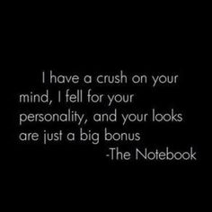 Is there a quote from the notebook that I don't love? No.