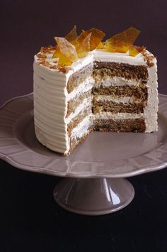 Layer cake banane et caramel
