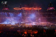14 Performers take part in the opening ceremony of the London 2012 Olympic Games at the Olympic Stadium. DAMIR SAGOLJ/REUTERS