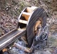 - a very good site illustrating and giving info on thousands of homemade tools, set-ups, and pieces of equipment. pictured is a waterwheel electric generator