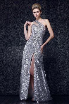 Sheath/Column One-Shoulder Floor-Length Dasha's Evening Dress. Get it @ http://mydresshaven.com/item/view/63704