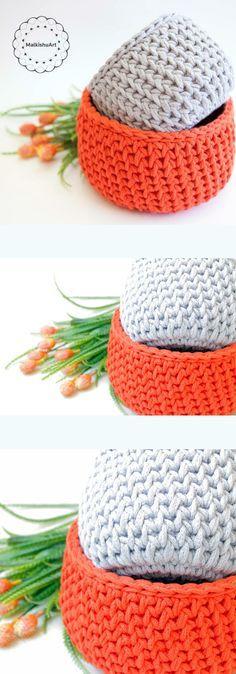 my Round Plaited Texture Crochet Basket – PDF Pattern (US crochet terms)