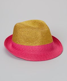 "Look at this Pink Sparkle Plenty Fedora on #zulily today!  $10.99, 20"" circumference"