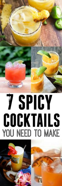 7 Spicy Cocktails that you can make at home | platingsandpairings.com