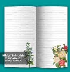 Midori Printable Insert  Traveler's Notebook  by AnthologyNotes