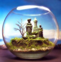 Enchanted Chess Fantasy  - Terrarium / Diorama - Mini Zen Garden. $169.00, via Etsy. <3 JH