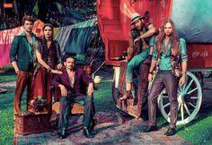 Ed Marquezini, Ricardo Merini & Tauá Biral are Gypsies for QUEM Magazine