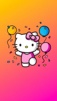 Hello Kitty Backgrounds, Hello Kitty Wallpaper, Pink Wallpaper, Cool Wallpaper, Anime Rules, Hello Kitty Pictures, Hello Kitty Birthday, Dibujos Cute, Sanrio