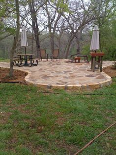 Flagstone patio that I want and neighbor has!