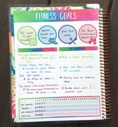 Am in love with the new goals section in the Erin Condren Life Planner - perfect to track my fitness goals!!