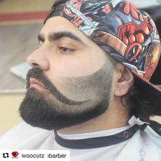 Faded beard trim that shapes around trim shaped handle bar mustache Beard Cuts, Beard Fade, Beard Styles For Men, Hair And Beard Styles, Bp Coiffure, New Beard Style, Beard Haircut, Fade Haircut, Shaved Hair Designs