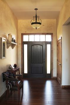 Rustic home decor faux finish decorating paint design wood floors wood doors wood trim