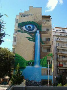 Street art in the center THESSALONIKI