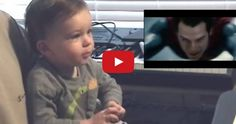 Baby watches Superman's first flight, is extremely but quietly thrilled