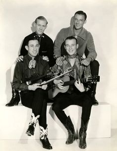 Sons of the Pioneers - Back: Tim Spencer and Bob Nolan,  Front: Hugh Farr and Leonard Slye  1934