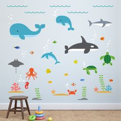 Overview Transform your child's bedroom walls into a fantastic underwater world with these amazing Under the Sea Wall Decals from Maxwill Studio. These beautifully designed sea creature wall stickers