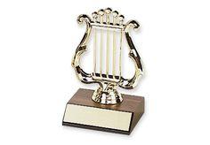 "LYRE TROPHY - 5"" trophy."