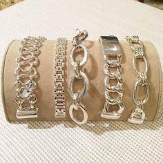 Classic Sterling Silver Bracelets www.laurapearce.com