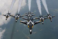 South Korean Air Force Black Eagles display